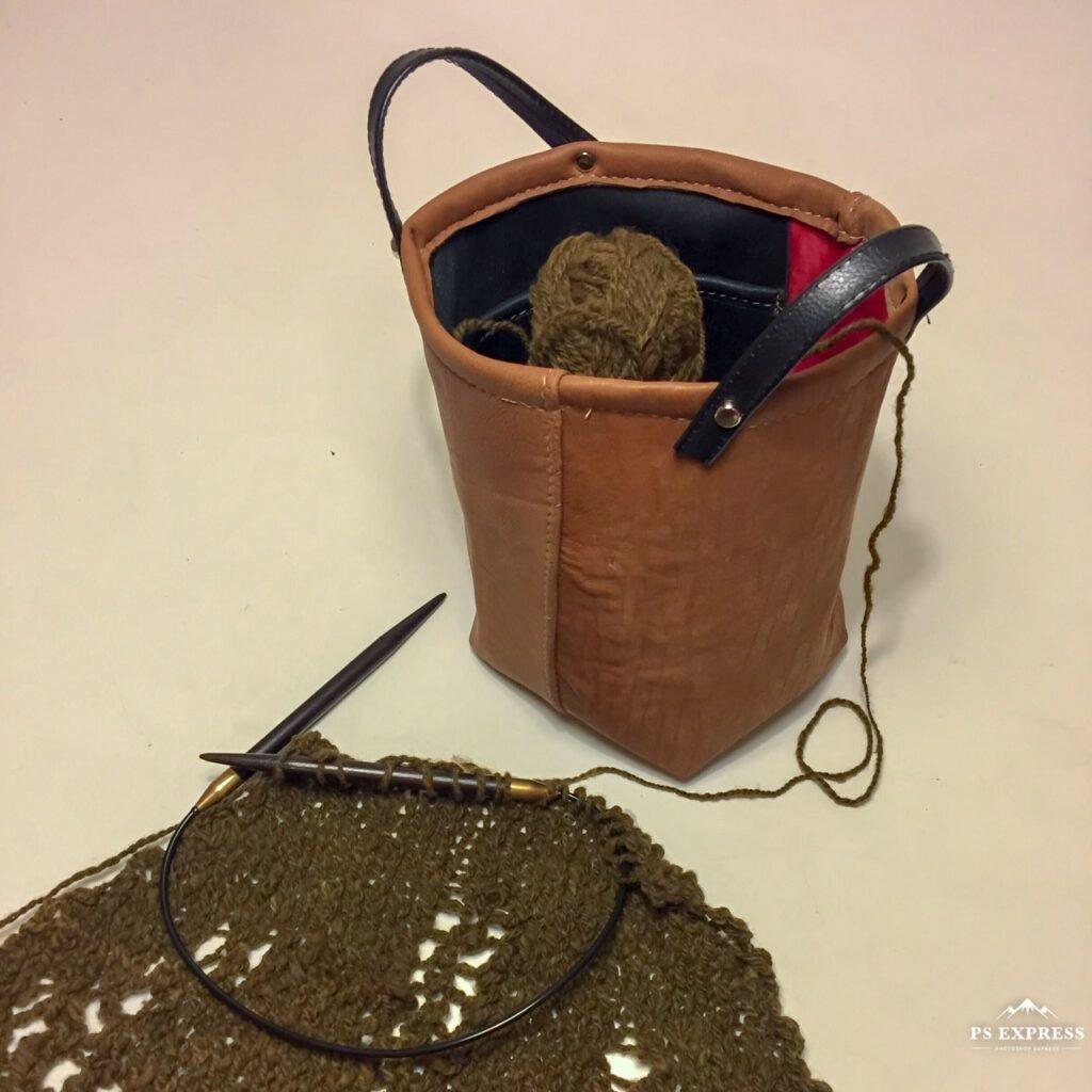 Guðrún Borghildur prjónataska knittingbag
