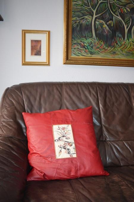 leður púðar leather cushions