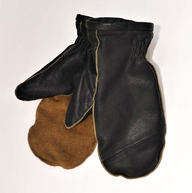 warm Mittens Upcycled Leather
